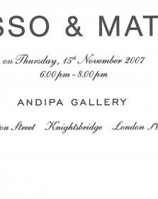 Picasso and Matisse at Andipa in London, UK