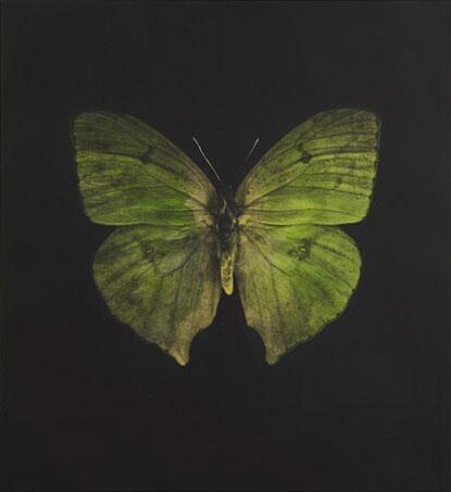 Damien Hirst:The Souls on Jacob's Ladder Take Their Flight (Large Green Butterfly)