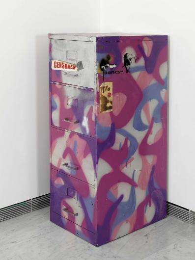Banksy:Metal Filling Cabinet