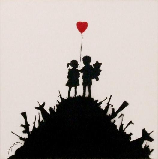 Banksy:Kids on Guns