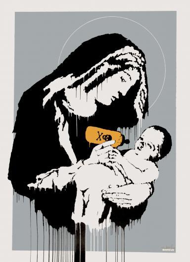 Banksy:Virgin Mary (Toxic Mary)