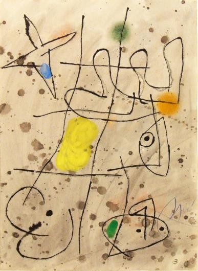 Joan Miro:Le Courtisan Grotesque 3