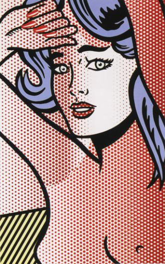 Roy Lichtenstein:Nude with Blue Hair, State I