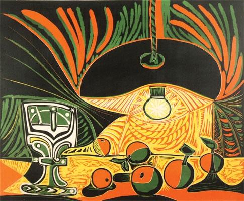 Pablo Picasso:Nature Morte sous la Lampe