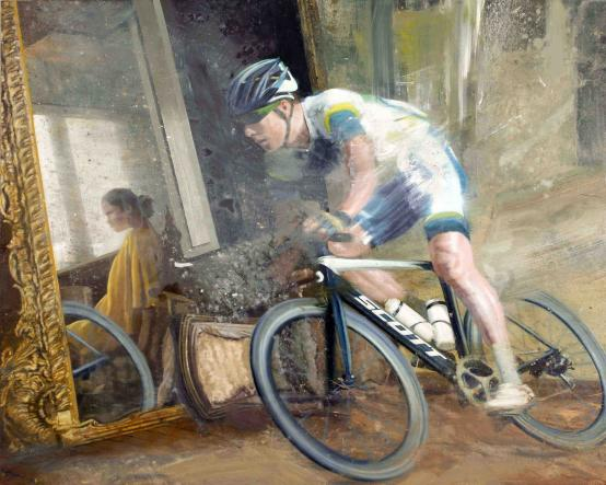 Nicola Pucci:Cyclist In An Old Room