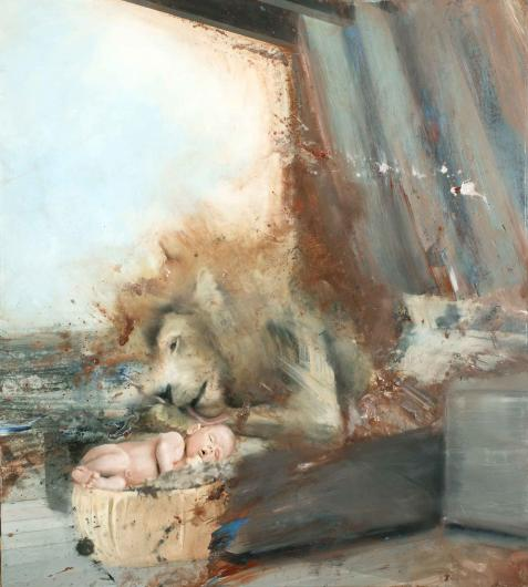 Nicola Pucci:Lion with Baby
