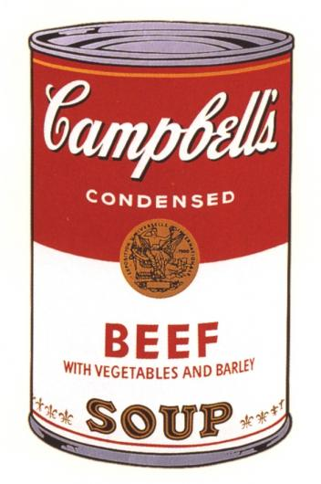 Andy Warhol:Campbell's Soup Can I - Beef