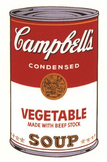 Andy Warhol:Campbell's Soup Can I - Vegetable