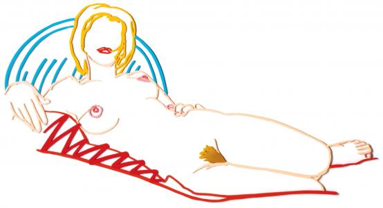 Tom Wesselmann:Monica reclining on blanket and pillow
