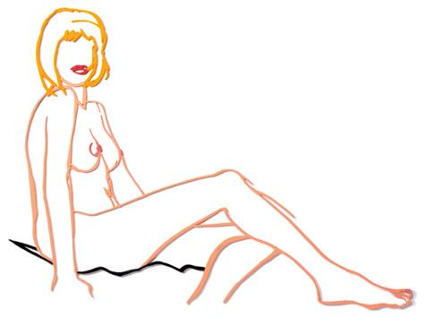 Tom Wesselmann:Monica Sitting, One Leg on the Other