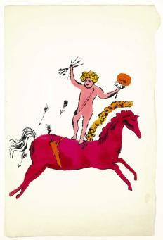 Andy Warhol:Cherub on Horseback