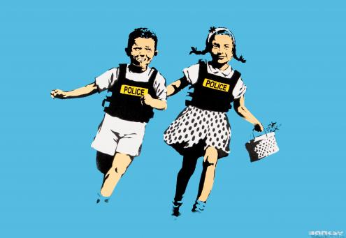 Banksy:Jack and Jill (Police Kids)