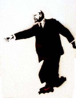Banksy:Lenin On Skates