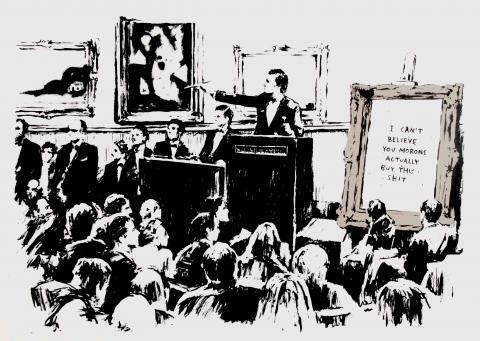 Banksy:Morons (White)