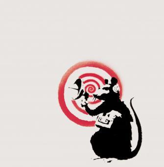 Banksy:Sonic Rat (Radar Rat)