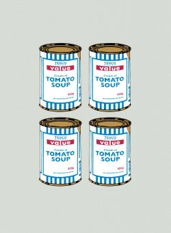 Banksy:Soup Can (Quad)