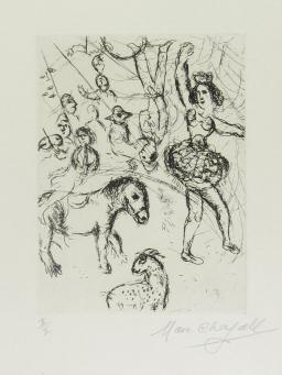 Marc Chagall:Au Cirque, Le Poney