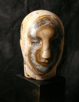 Emily Young:Small Onyx Striped Head