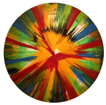 Damien Hirst:Untitled (Spin on Paper)