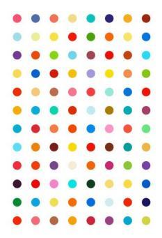 Damien Hirst:Xylene Cynol Dye Solution