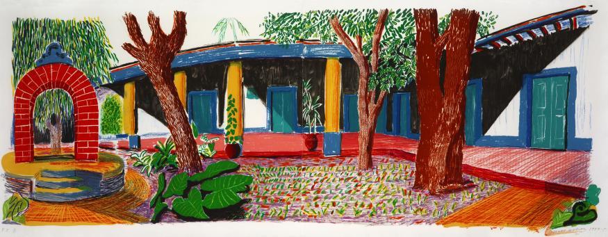 David Hockney:Hotel Acatlan Second Day