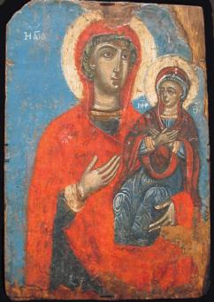 Icons:St Anne Holding Virgin Mary