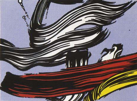 Roy Lichtenstein:Brushstrokes