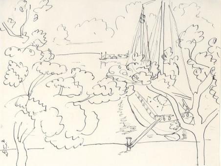Henri Matisse:Bateau a L'Amarte