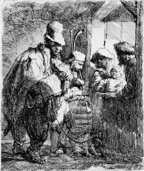 Rembrandt:Strolling Musicians
