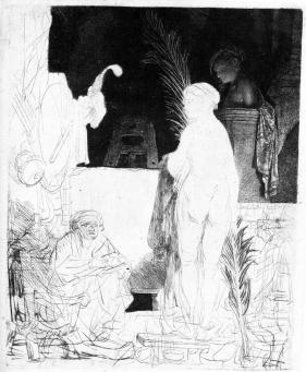 Rembrandt:The Artist Drawing from the Model