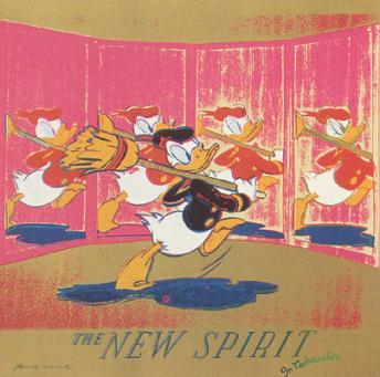 Andy Warhol:Ads: The New Spirit (Donald Duck), F & S II.357