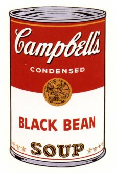 Andy Warhol:Campbell's Soup Can I - Black Bean