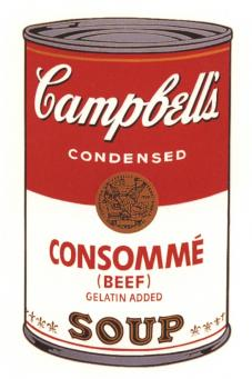 Andy Warhol:Campbell's Soup Can I - Consomme Beef
