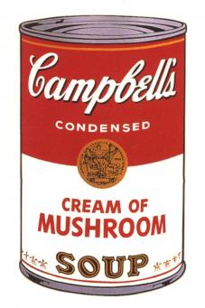 Andy Warhol:Campbell's Soup Can I - Cream of Mushroom
