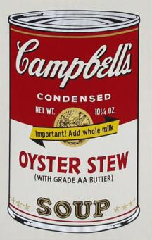 Andy Warhol:Campbell's Soup II - Oyster Stew