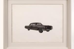 Andy Warhol artwork 'Untitled (Car)' 1962 unique work on paper, Andipa Gallery.